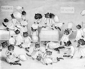 8x10 Print - 1900 Louis Wain Cat art humor