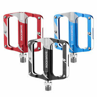 "ROCKBROS Bicycle Pedals Alu 9/16"" Non-Slip Sealed Bearing Cycling Flat Pedals"