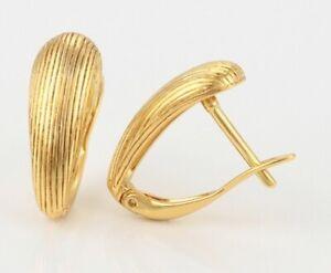 24ct/9ct Yellow Gold Filled Women's Girl's Small Elegant Vintage Hoop Earrings