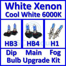 Cool White 6000K Xenon Headlight Bulb Set Main Dip Fog HB3 HB4 H1 Kit