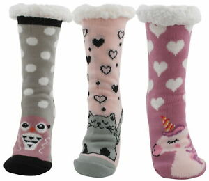 Atania Ladies Knitted Animal Slipper Socks