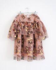 HOF115:H&M Studio Gemustertes Tüllkleid altrosa / Tulle dress flower 110/116