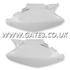 HONDA CR250 CR 250 2002-2007 WHITE SIDE PANELS NUMBER BOARDS MOTOCROSS PLASTICS