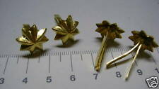 4  goldfarbende Sterne für Pickelhaube an Doppelsplint