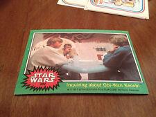 Vintage 1977 STAR WARS #202 Movie Film Trading Card INquiring Obi-Wan Kenobi old
