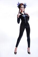 Lycra Catsuit Overall Ganzanzug mit dem silbernen RV/ Sexy Lycra Catsuit