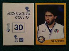 AZZURRI CON IP 1998 98 n 30 CARLO ANCELOTTI  Figurina Sticker Merlin New