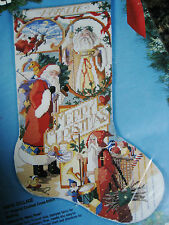 Christmas Holiday BUCILLA Counted Cross Stocking KIT,SANTA COLLAGE,Rossi,83035