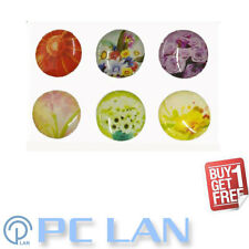 6 PCS Flower Plant Floral Pattern Home Button Sticker for iPad 1/2/3/4 +FREE SET