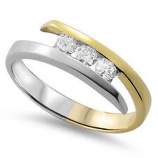 VVS 0.24ct Round Diamonds Cross-over Half Eternity Wedding Ring in 18K Gold