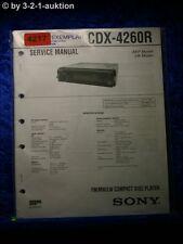 Sony Service Manual CDX 4260R CD Player (#4217)