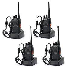 4 Pcs Baofeng BF-888S 400-470MHz USB Two-way Radio Walkie Talkie + Free Headsets