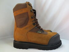 Mens Wolverine Brown Waterproof Insulated Composite Toe Work Boot Size 8 #5551