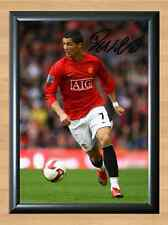 Cristiano Ronaldo Manchester United Man Soccer Signed Autographed A4 Photo Print