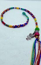 hair wrap, hair braid, autumn owl silver, 31/35cm, clip or plait in,