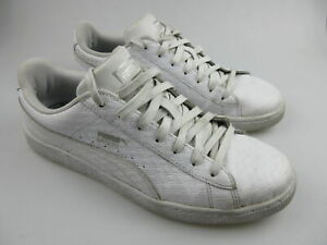 Men's PUMA 'Basket Classic Leather' Sz 8 US Shoes White VGCon | 3+ Extra 10% Off