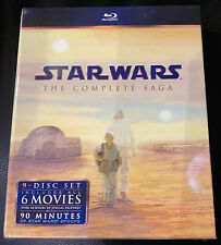 STAR WARS The Complete Saga 2011 Blu-ray, 9-Disc Set - BRAND NEW - Free Shipping