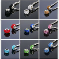 20PCS Silver Murano Glass Beads Lampwork Fit European Charm Bracelet DIY