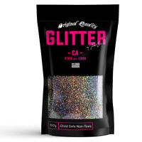 Charcoal Holographic Premium Glitter Multi Purpose Dust Powder 100g / 3.5oz
