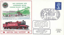 2 SEPTEMBER 1972 LAKESIDE RAILWAY CARRIED BRITISH RAIL COMMEMORATIVE COVER SHS