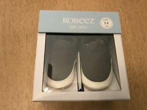 Robeez Soft Soles baby/ toddlers  shoes 0-6 months charcoal