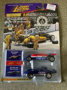 Johnny Lightning Indy 500-1978 Winner Al Unser Car w/ 1978 Corvette Pace Car