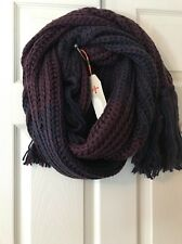 Bickley + Mitchell Winter Soft Scarf Plum Purple Chunky Knit Urban Outfitters