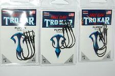 3 packs lazer tro kar trokar flippin hooks 4/0 tk130-4/0 bass flipping hook