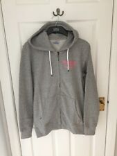 Jack & Jones Hoodie Hoody And Small Mens Grey Zip Hood Jumper Sweat Sweater Mens