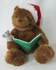 Gund Twas the Night Before Christmas Talking Storytime Plush Bear GUC