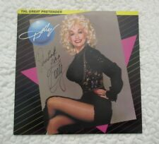 DOLLY PARTON AUTOGRAPH. LP GREAT PRETENDER. OWNED HALL OF FAME DJ RHUBARB JONES