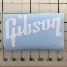 """Gibson Guitar Logo 6"""" Wide White Vinyl Decal Sticker - BOGO"""