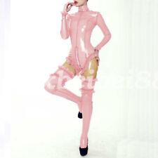 Latex Rubber Gummi Catsuit New Style Pink Ruffle Swimwear and StockingseS-XXL