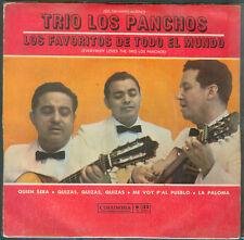 """TRIO LOS PANCHOS 7"""" EP  LOS FAVORIITOS DE TODO EL MUNDO ARGENTINA PROMO"""