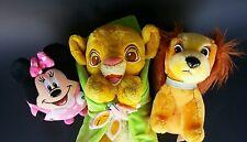 Disney Babies Plush Stuffed Animal Simba Lady Minnie Mouse Ty Beanie Ballz Toys