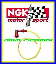 Cavo candela silicone NGK RACING giallo + cappuccio pipetta LZ05F LY11 Moto Kart