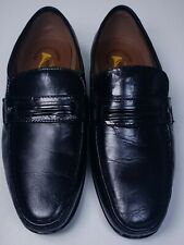 French Shriner Mens Concord Black Leather Loafer Dress Shoes Sz 9.5 W Excellent