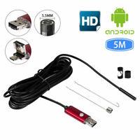 5M 5.5MM HD impermeabile WiFi Endoscopio ispezione 6 LED per Phone iPad Android