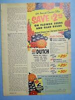 1955 Magazine Advertisement Page Old Dutch Cleanser Flowers Offer Vintage Ad