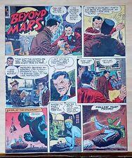 Beyond Mars by Jack Williamson - scarce full tab Sunday comic page Aug. 23, 1953