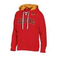 Chicago Blackhawks Men's MEDIUM Team Lace Up Hoodie Sweatshirt - CLOSEOUT