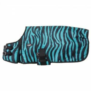 "Tough-1 600D Dog Blanket  --WATERPROOF -TURQUOISE ZEBRA -SMALL  (12"" - 14"")"