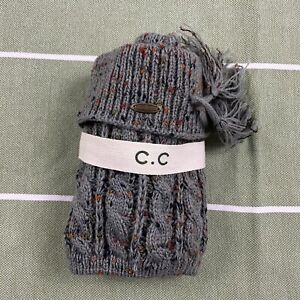 C.C. Gray With Color Speckles Knit Boot Cuffs