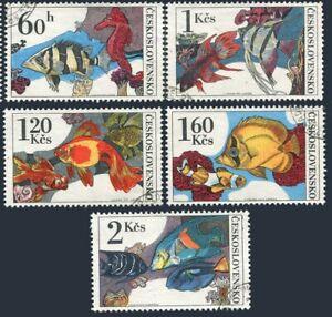 Czechoslovakia 2008-2012,CTO.Michel 2260-2264 Tropical Fish Aquarium,1975.