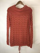 Ruff Hewn Women's Large L Pullover Sweater Copper Turtle Neck Style Excellent 1