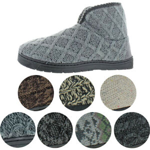 Mukluks Men's Mark Sweater Knit Furpa Ankle Bootie House Slippers
