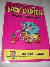 POSTER / MANIFESTO LE AVVENTURE DI NICK CARTER  figurine panini !! LOCANDINA!