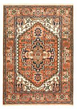 "4'2"" x 6'0"" Vintage Hand-Knotted Traditional Wool Area Rug"