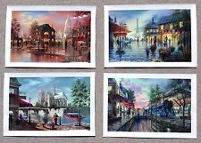 Lot of 4 Ken Shotwell giclee's on Canvas Singed and Numbered Pairs Scenes
