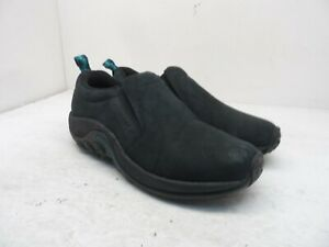 Merrell Work Women's Jungle Moc Nubuck Work Shoes J55992 Black/Blue Size 7.5M